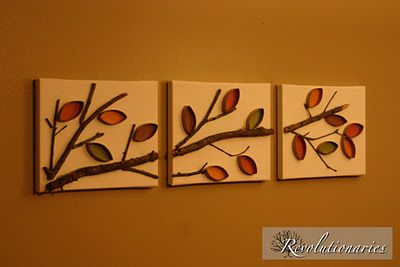 recycled wall art project