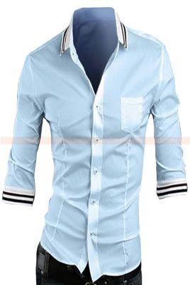 camisa azul claro slim fit CS43