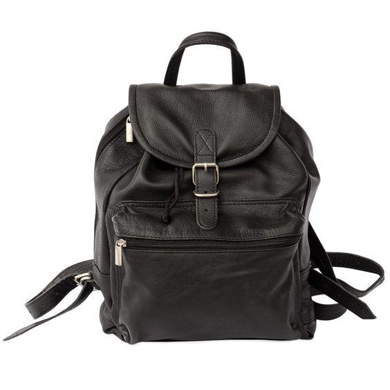 Edel im Aussehen, praktisch in der Handhabung: Mit diesem klassischen, mittelgroßen Rucksack aus hochwertigen Nappa-Leder sind Sie immer gut gerüstet! City-Rucksack 512, Nappa-Leder, Schwarz, für Damen und Herren. 119,00 €