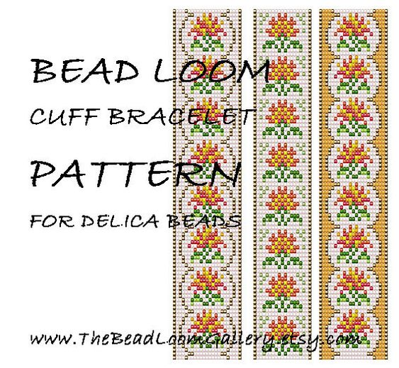 Bead Loom Cuff Bracelet Pattern Vol.42  The by thebeadloomgallery