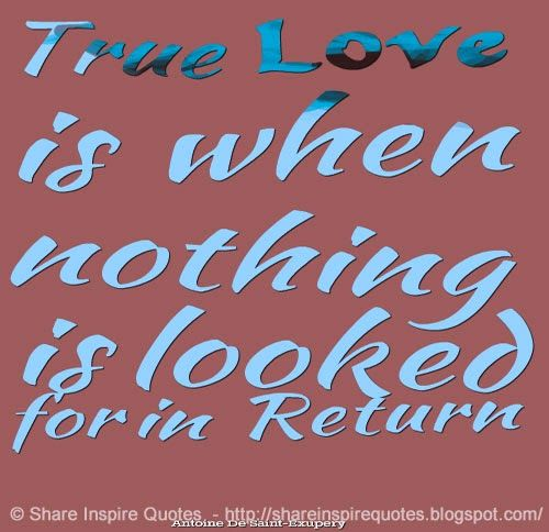True Love is when nothing is looked for in Return #love #quotes