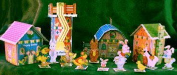 A collection of fun paper projects that will help you to create your very own Bunny Village for Easter.