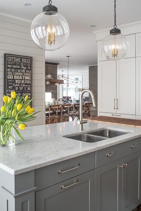 Light Gray Kitchen Cabinets With White Countertops Decor Color Ideas With Extra Flat Ceiling In 2020 Kitchen Marble Kitchen Cabinet Design Grey Kitchen Cabinets