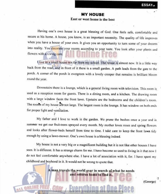 10th Clas English Important Essay Note Easy And Comprehensive Daily Based Quotation About Life The Road Topics Topic
