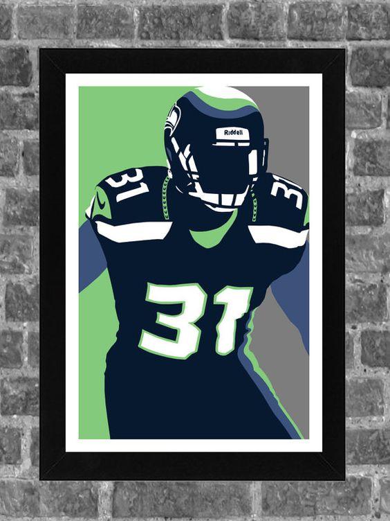 Seattle Seahawks Kam Chancellor Portrait Sports by FanFourLife