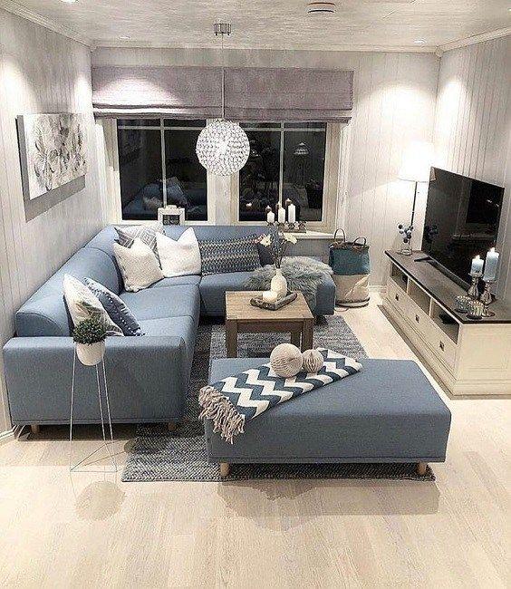 Minimalist Living Room 20 Stylish Ideas That Will Amaze You Recipegood Blue Sofas Living Room Living Room Decor Apartment Couches Living Room O que living room significa