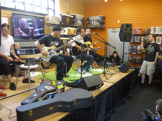 Bouncing Souls performing live at the Norwood MA Newbury Comics on June 25th 2011.