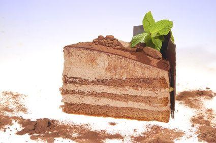 Schoko-Schichtkuchen mit Vanillecreme