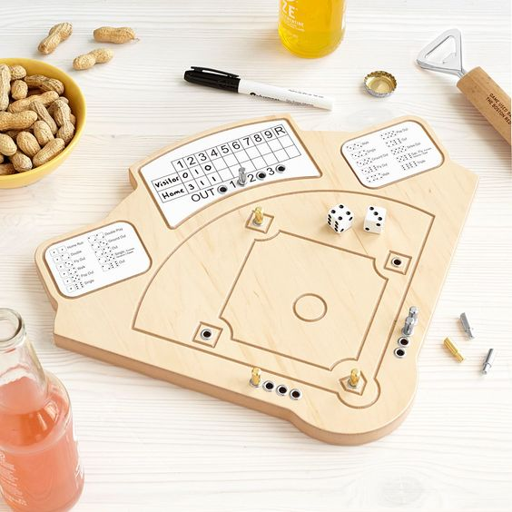 Tabletop Baseball game for the die-hard fan​ -Weird but actually smart Christmas gifts for guys - Todaywedate.com