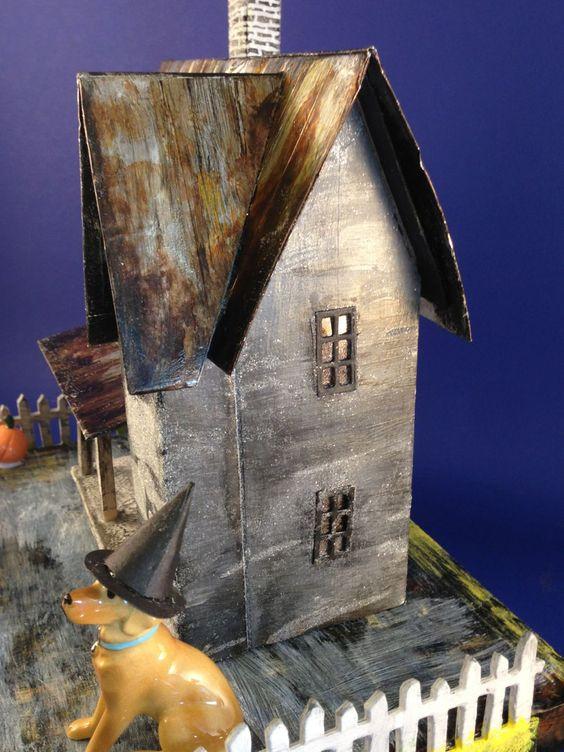 Josie's house with Josie in a witch hat