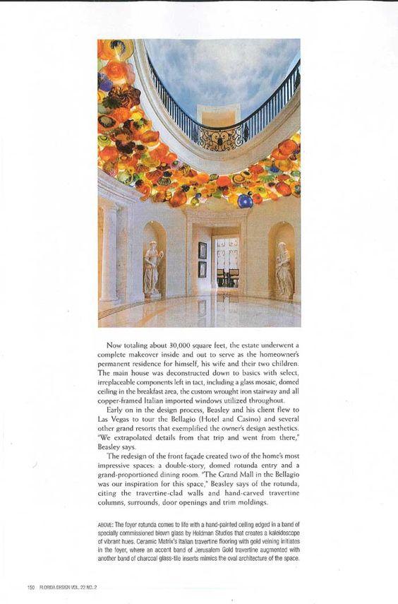 Florida Design Magazine Photos Courtesy Of Stephen Allen Photography Blown Glass Colorful