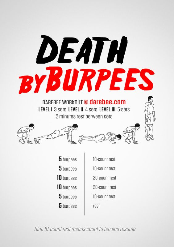 New: Death By Burpees Workout  #darebee #workout #fitness