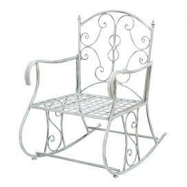 Pairing artful craftsmanship with lasting appeal, this on-trend design effortlessly rounds out your outdoor d�cor.Product: Arm chairConstruction Material: MetalColor: WhiteDimensions: 36 H x 24 W x 31 D