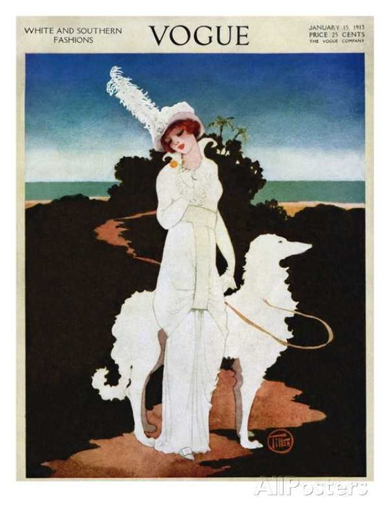 Vogue Cover - January 1913 - by Mrs. Newell Tilton