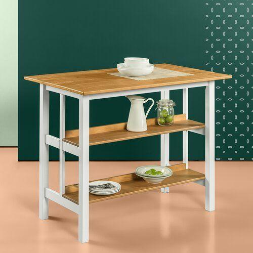Stetler Kitchen Island Prep Table Kucheninsel Bank Holz