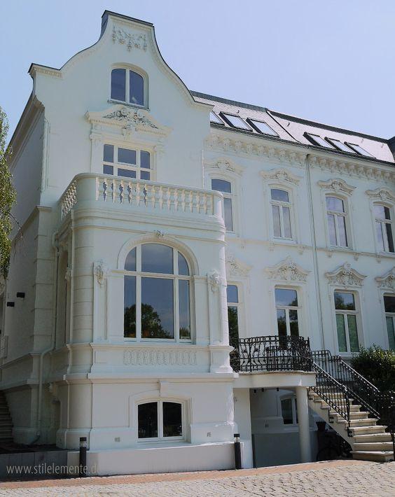 Balustrade und Beton Treppenstufen #Altbau #Hausbau #Stuck