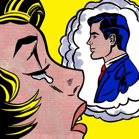 Thinking Of Him. | 8 Incredible Lichtenstein GIFs