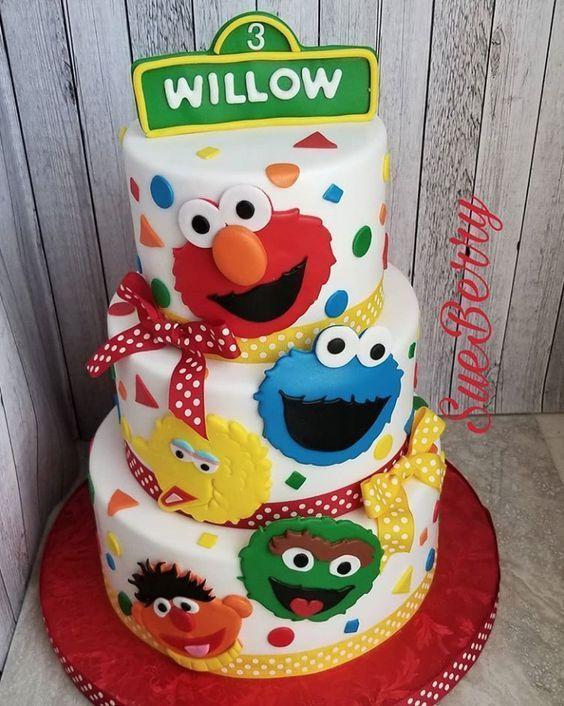 Sensational Sesame Street Birthday Cakes Find Your Cake Inspirationbirthday Funny Birthday Cards Online Hetedamsfinfo