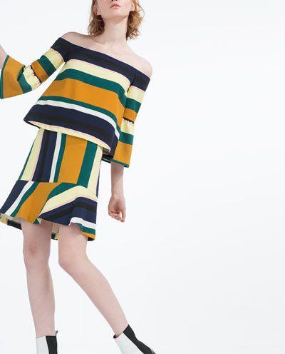 Image 1 of STRIPED MINI SKIRT from Zara