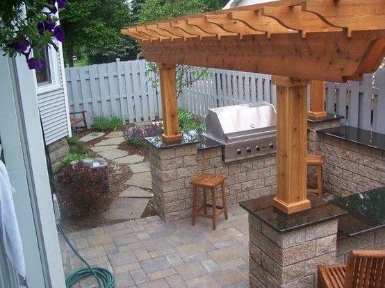 Outdoor kitchen Lombard, IL Unilock Pisa wallstone, Unilock brussels