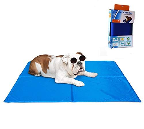 Aleone Dog Cooling Mat 37 X 31 Pet Gel Self Cooling Pad For Summer Sleeping Bad Dogsupplements Dogvitaminforhairloss Dog Cooling Mat Usa Dog