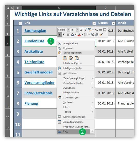Navigation Mit Hyperlinks In Excel Lernmotivation Excel Vorlage Lernen