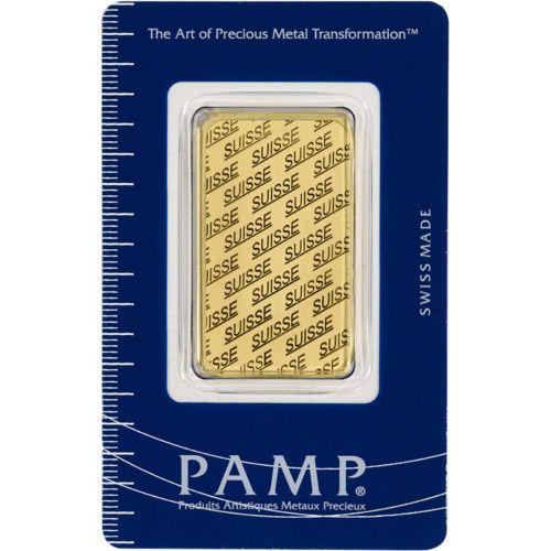 Details About 1 Oz Gold Bar Pamp Suisse Suisse Design 999 9 Fine In Sealed Assay