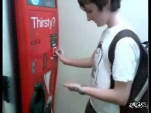 how to get free coke from a vending machine