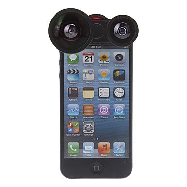 Four-in-one Rotatable 180 Degree Fish Lens, 0.4X Wide Angle and Macro Lens for iPhone 5/5S http://mxpi.co.nf/?item=908802
