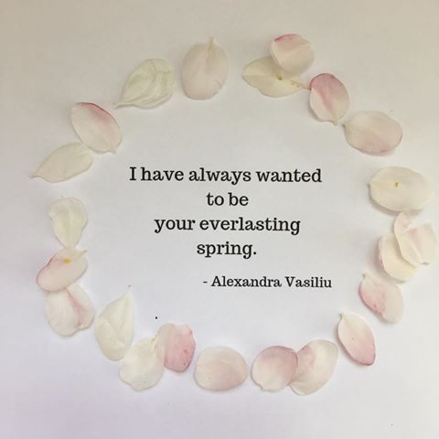 I Have Always Wanted To Be Your Everlasting Spring Alexandra