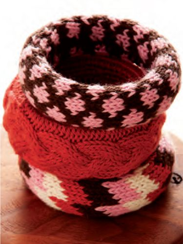 Go Boho - Whether worn individually or stacked together, these bracelets are a great use of scrap yarn.