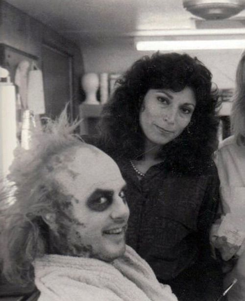 Micheal Keaton with Ve Neill ( My Favourite Film Make-Up Artist).