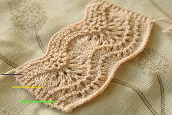 Knitting Stitch Variations : Learn 3 different variations of the classic Feather & Fan stitch pattern ...