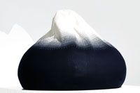 Kebnekaise - Highest mountain in Sweden Knitted Pouf #nordicdesigncollective #mynordicfeeling