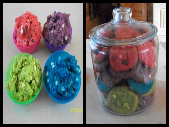 Neon food coloring, premiere white & milk chocolate chip cookies ...