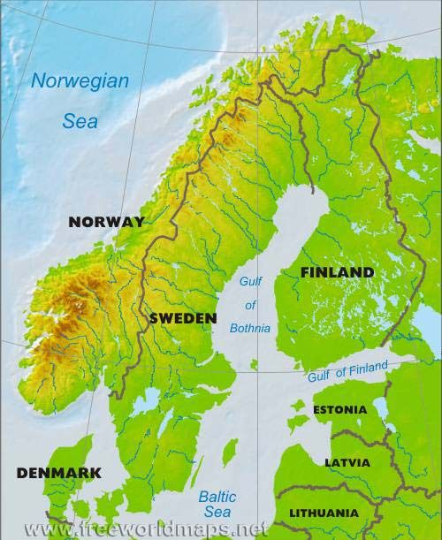 Maps Update 881740 Map of Northern Europe Countries and Capitals – Map of Northern Europe with Capitals