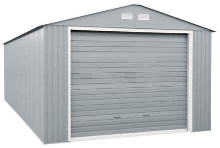 Imperial 12 Ft W X 20 Ft D Metal Garage Shed Metal Storage Garage Garage Door Design Garage Storage