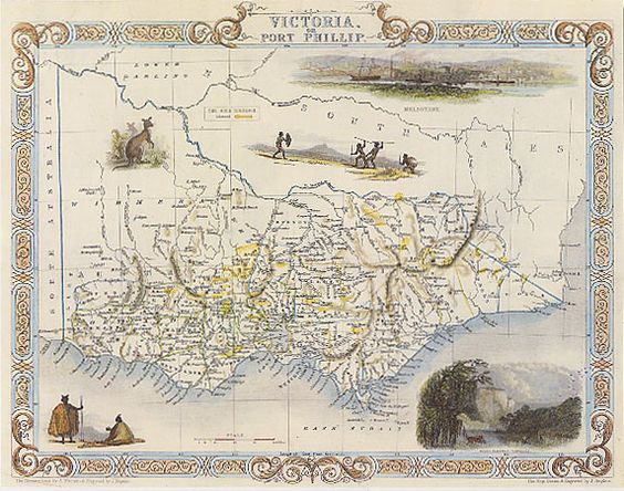 1800s Map Victoria australia – Explore Australia Map