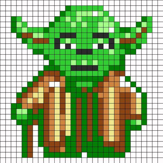 Yoda Perler Bead Pattern / Bead Sprite:
