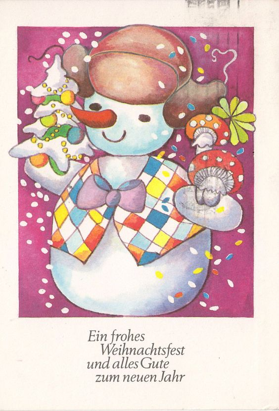 Weihnachten - Schneemann (1) - L. Detlefsen, 1982   eBay
