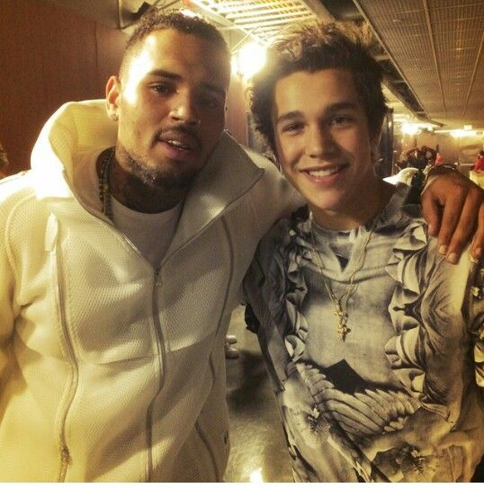Talking music with Chris Brown backstage