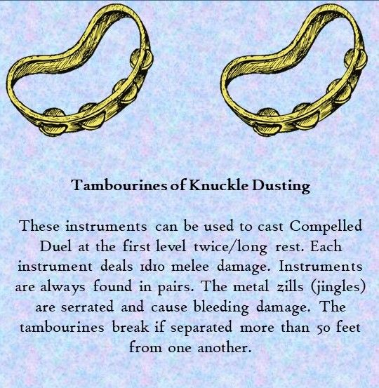 D D Tambourines Of Knuckle Dusting Roleplaying Game Dnd 5e Homebrew Nerd Games Attempt to shove or grapple (contested athletics v athletics/acrobatics). dnd 5e homebrew
