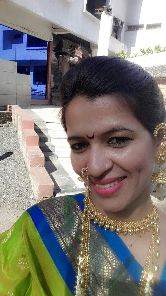 Maharashtrian get up...traditional jwellery ..paithani