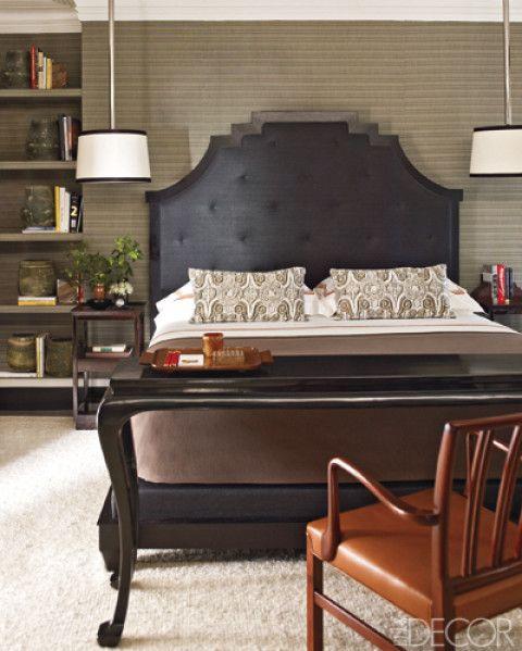 Masculine bedroom w asian influence headboard masculine for Masculine headboards