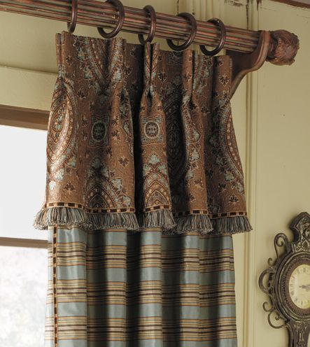 Marquette Heights Waterfall Valance Drapery Panel 570 Pinch Pleated Attached Valance With
