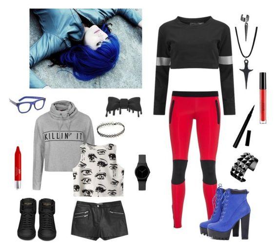 """Comic Clothing"" by adrienne-miller96 on Polyvore featuring Ally Fashion, Chicnova Fashion, Norma Kamali, Yves Saint Laurent, Ultracor, MANGO, RetroSuperFuture, AX Paris, PurMinerals and Stila"