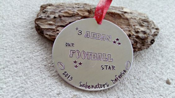 Personalized Hand Stamped Christmas Ornament  by SweetAspenJewels, $22.00