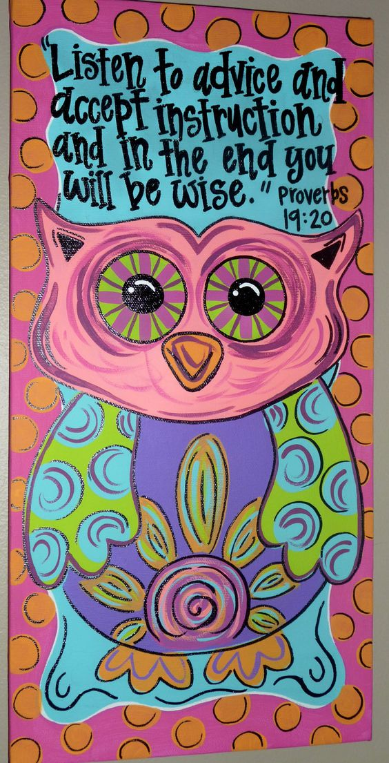 PAINTED OWL CANVAS   # Pin++ for Pinterest #