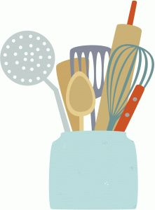 Silhouette Design Store: jar of cooking utensils