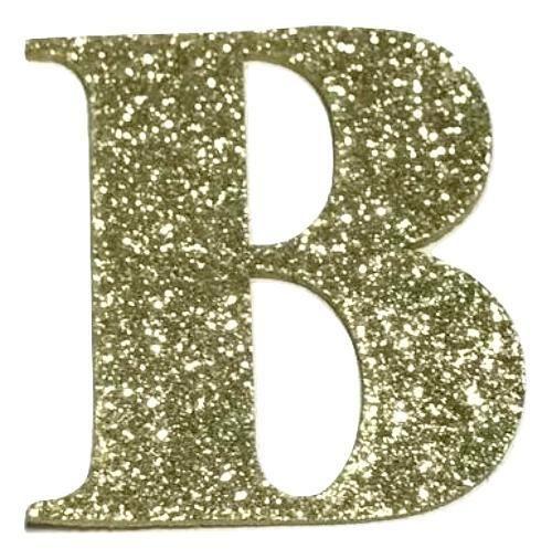 Gold Glitter 2 Letter B Padded Appliques Glitter Letters Letter B Gold Glitter